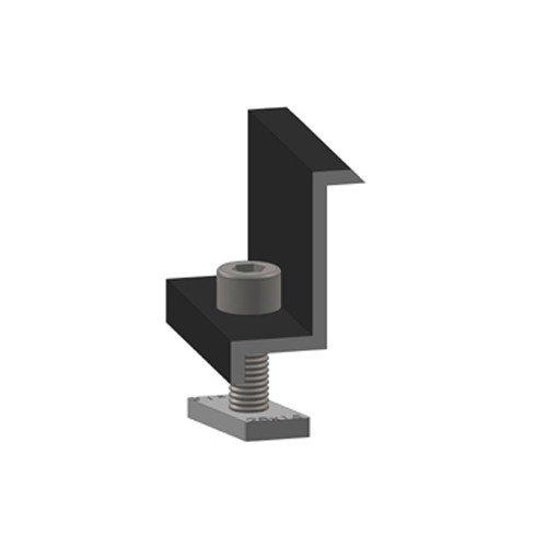 Zamontowana klamra zamykająca Alumero czarna 32