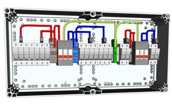 HISbox DC Combiner 2MPPT, 3 Stringi, 15 A