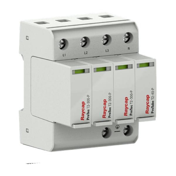 Raycap Ochrona przepięciowa AC szyna montażowa Typ II TN-S /TT