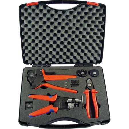 Rennsteig walizka narzędziowa dla MC4, szczypce do zaciskania / ściągania izolacji