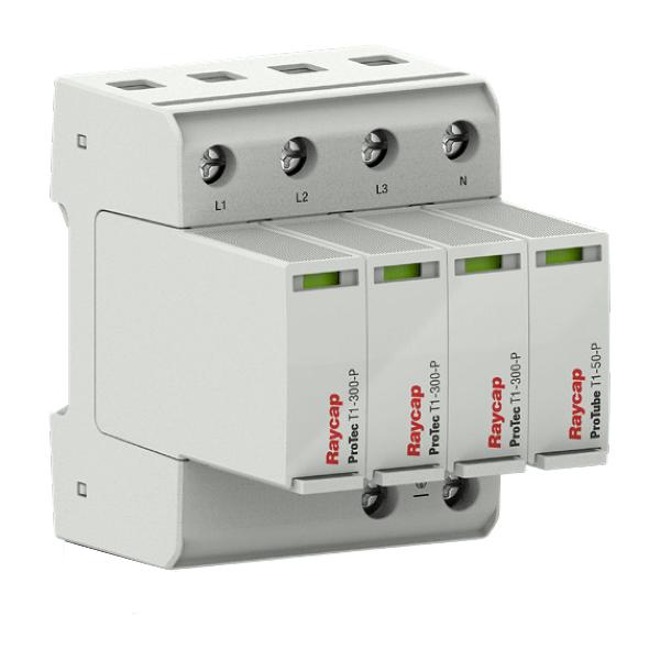 Raycap Ochrona przepięciowa AC szyna montażowa Typ I+II TN-S / TT